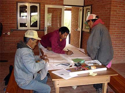 Elaboración de los mapas del territorio ancestral después del viaje