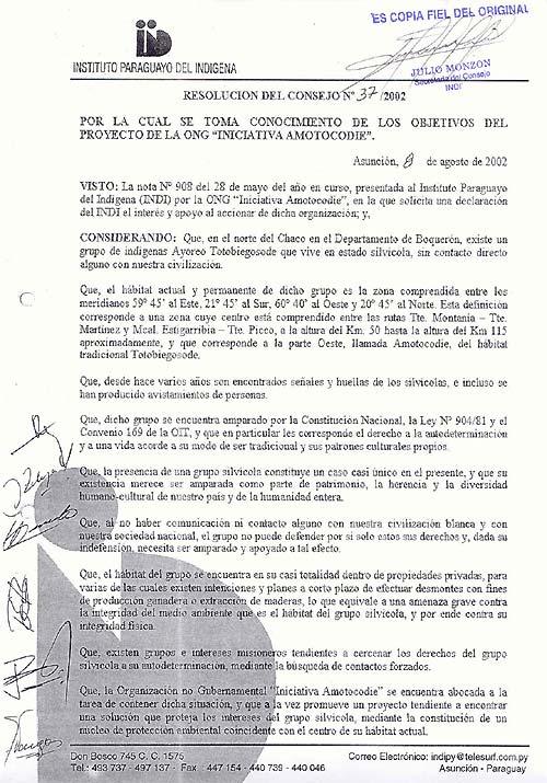Resolución del Consejo Nº 37/2002 Pagina 1