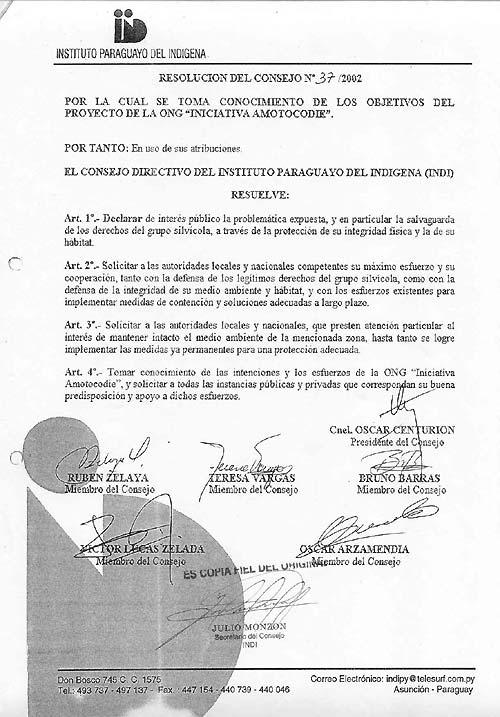 Resolución del Consejo Nº 37/2002 Pagina 2