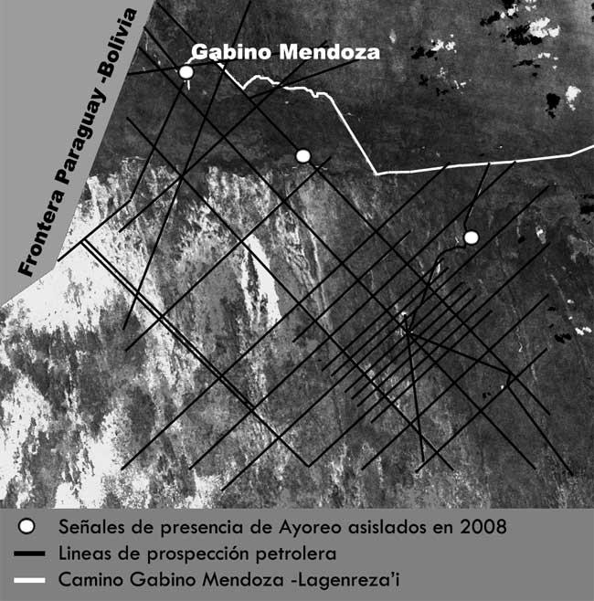 Picadas abiertas para la prospección en la zona de Gabino Mendoza