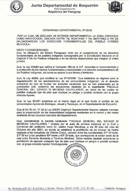 Ordenanza Departamental Nº 02/02 Pagina 1