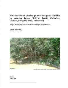 Situación de los últimos pueblos indígenas aislados en América latina